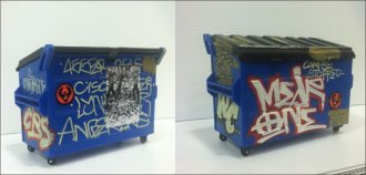 Mearone - Hand Customized Desktop Dumpster 2