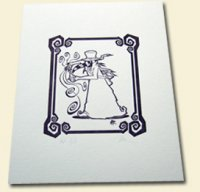 Doktor A - Plague Doctor Letterpressed Print