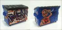 Mearone - Hand Customized Desktop Dumpster 7